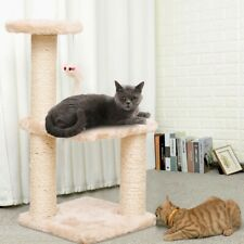New listing Cat Tower Kittens Pet Play House Cat Activity Tree Condo Scratching Sisal Post .