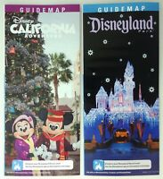 Disneyland and California Adventure Holiday Time Christmas  2018 Guide Map set