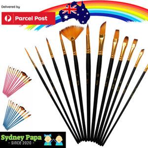 12pcs Artist Paint Brush Set Painting Tool Pack for Acrylic Oil Watercolour Kit