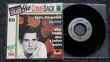 Udo Jürgens - Jenny 7'' Single Hit Comeback Pressung