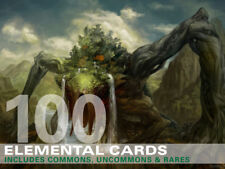 100X Elemental Cards (Includes Rares!) MTG Magic -100 Card Lot Collection Deck-