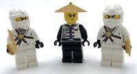 LEGO 3 NEW NINJA MINIFIGURES FIGURES WITH SWORDS