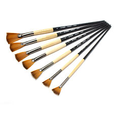 7pcs/lot Acrylic Oil Painting Brush Set Fan Shaped for Watercolor Body Painting