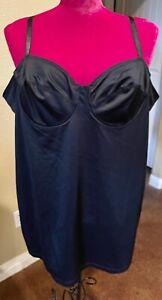 Go Figure Shape wear Tank Underwire Bra 2XL Black Adjustable Strap