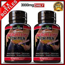 2 X WEIGHT LOSS FOR MEN FAT BURNER DETOX SLIMMING DIET GARCINIA HCA 95% CAPSULES