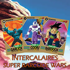 Full Set 9 Intercalaires Super Barcode Wars Dragon Ball - DBZ SBW Character CC