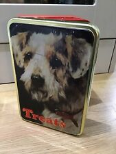 Cath Kidstone Vintage Style Dog Treat Tin With Adorable Terrier Picture