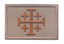 CROSS TEMPLAR CRUSADERS KNIGHTS CHRISTIAN ARMY INSIGNIA HOOK & LOOP PATCH sh 723