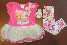 Bubble Guppies Molly Toddler Girl Pink Shirt & Gray Leggings Outfit Set New 3T