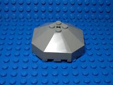 LEGO LEGOS  -  One NEW Windscreen 6x6 Octagonal Canopy with Axle Hole LIGHT GRAY