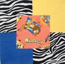 """24 6"""" MADAGASCAR Movie Alex Marty Zebra Hippo Lion Quilt Fabric Squares"""