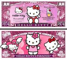 HELLO KITTY BILLET MILLION de DOLLAR US! Collection Dessin Animé Série Jeu Vidéo
