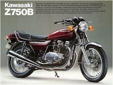 KAWASAKI Brochure KZ750 Z750 Z750B B4 1979 Sales Catalog REPRO