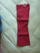Kids Vintage MANN Pants Boy/Girl 11 Regular Red/Brown Unisex Flare Bell Style!!!