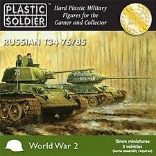 Plastic Soldier Company T-34 76/85 tank platoon 5 tanks 1/100 15mm Flames of War