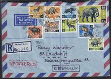 Kenya 1967 Registered Airmail Cover To Germany  - Malindi Cds - Addressed