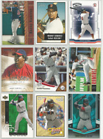 2001-2008 Manny Ramirez Mixed Lot 9 Different Cards All Boston Red Sox