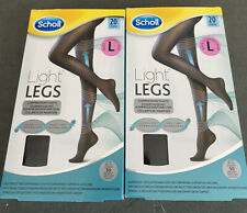Light Legs Scholl Compression Tights 20 Denier Black Size Large 2 Packs