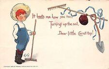 E Curtis~Carrot-Top Farmer Boy~Garden Rakes~It Beets Me~Shovel~1903 TUCK