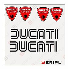 X 6 DUCATI RETRO DECAL  LOGO LLANTA STICKER  VINILO RECORTE PEGATINA MOTO GP.