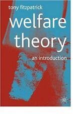 Welfare Theory: An Introduction 2001