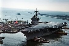New 5x7 Navy Photo: USS SARATOGA Aircraft Supercarrier, Home from Persian Gulf