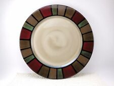 "Cuisinart Set of 4 Dinner Plates 10 3/4"" HOLIDAY VGUC Stoneware China"