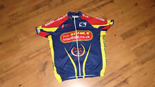 Mens Cycling Jersey Schils Interbike in Blue Yellow & Red Sz 3XL