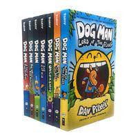 Dav Pilkey Adventures of Dog Man Series 7 Books Collection Set Hardback