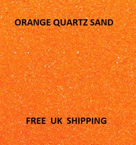 ORANGE Coloured Quartz Sand Artists Crafts Wedding Floristry Decor Aquarium ART