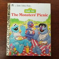 Sesame Street The Monsters' Picnic ~ Vintage 1991 Children's Little Golden Book