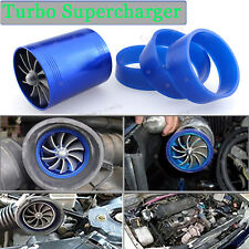 "2.5"" Gas Fuel Turbo Saver Fan Supercharger Air Intake Turbonator Blue For Dodge"