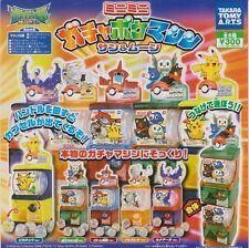 Takara Tomy Pokemon Sun and Moon Mini vending machine gashapon complete set of 5