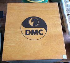 VINTAGE DMC EMBROIDERY FLOSS STORAGE CABINET BOX 3 DRAWERS