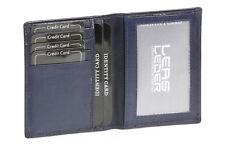 Ausweis- und Kreditkartenhülle LEAS in Echt-Leder, dunkelblau