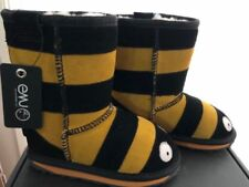 EMU kids Ugg Little creatures bee black yellow Australian Sheepskin Size US 9