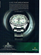 PUBLICITE ADVERTISING 086  2011  Rolex montre La Datejust II