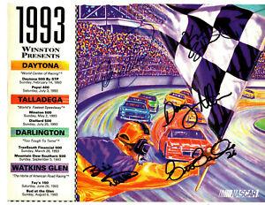 NASCAR Winston Cup original hand signed autographed advert EARNHARDT ALLISON