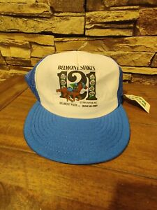 Vtg. 1989 Belmont Stakes 121 Snap Back Mesh Cap Trucker Hat  NWT