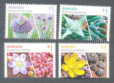 Australia-Succulents 2017-Flowers gummed issue mnh