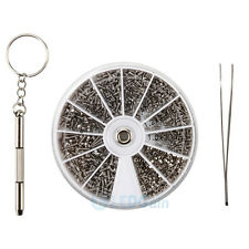 1000PCS 8 Kinds Glasses Eyeglasses Repair Kit Screws Nuts Assortment Tool Set