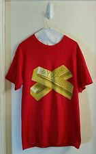 YMCMB YOUNG MONEY Gold Bars Graphic T-Shirt Red Size M Medium
