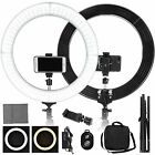 """19"""" LED SMD Ring Light Kit with Stand Dimmable 6000K for Makeup Phone Camera <br/> ⭐⭐⭐⭐⭐5 Warehouses⭐⭐⭐⭐⭐Free Lifetime Warranty⭐⭐⭐⭐⭐"""