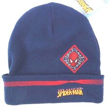 Marvel Amazing Spider-Man Boy's Blue Character Winter Hat Size 54 Cm NWT