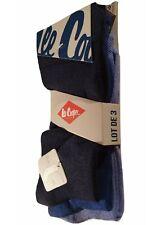 Lee Cooper 3 paires de chaussettes homme bleu marine bleu azure bleu ciel