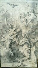Jean Cotelle ll (1642-1708)  Charcoal Drawing of Cherubs Signed, Original