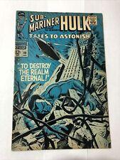 TALES TO ASTONISH #98 MARVEL 1968 HULK SUB-MARINER LEE THOMAS ROTH SEVERIN KEY