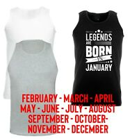 Legends born in October All Months Customized Vest Birthday gift Gym Workout Top