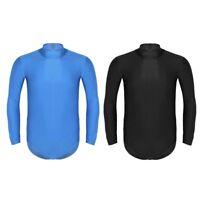 Männer Body Einteiler Unterhemd Overall Langarm Sportbody Unterwäsche Stringbody