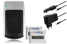 Cargador + 2x Batería Li-50b Li50b para Olympus SP-800UZ, SP-810UZ, SZ-10, SZ-20